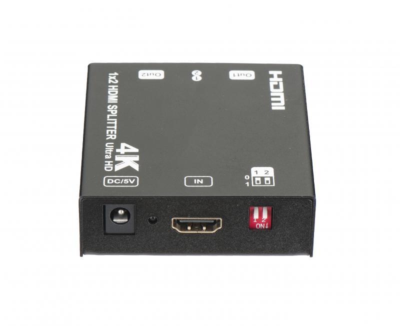 Splitter HDMI UltraHD 1x2 con EDID,HDCP 1.4 1080P 3D y 4K 30Hz.