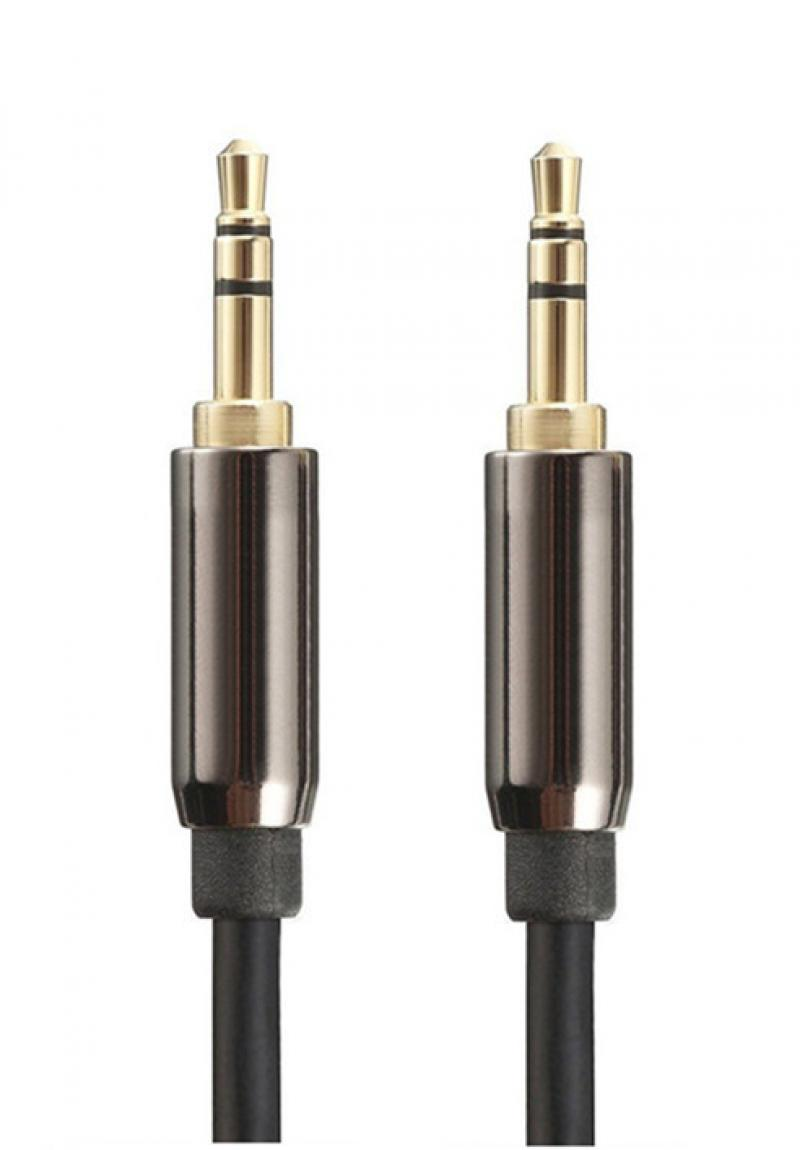 Cable de audio estéreo jack 3.5mm macho a macho de 2m apantallado